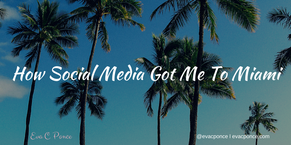 How Social Media secured me a trip to Miami!
